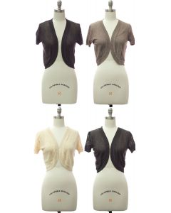 Quilt Knit Bolero - Assorted