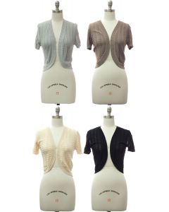 Leaf Knit Bolero - Assorted