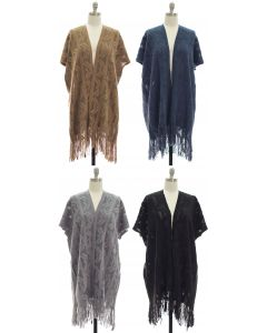 Open Shawl Poncho - Assorted