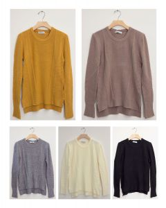 Side Slit High Low Sweater - Assorted