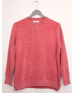 Center Seam Chenille Sweater - Pink