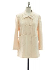 Two Pocket Front Jacket - Cream