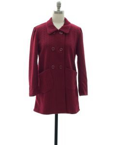 Two Pocket Front Jacket - Burgundy