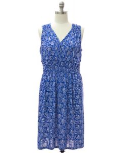 Shoulder Cinch Midi Dress - Blue