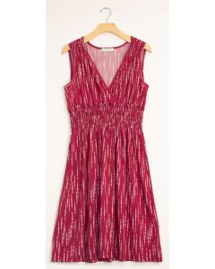 Rain Drop Cinch Midi Dress - Wine