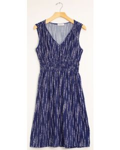 Rain Drop Cinch Midi Dress - Navy