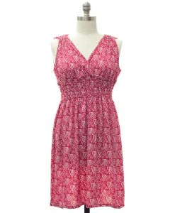 Plus Shoulder Cinch Midi Dress - Rose