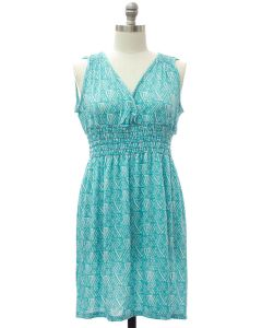 Plus Shoulder Cinch Midi Dress - Turquoise