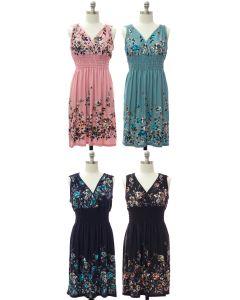 Plus Smock Waist Midi Dress - Assorted