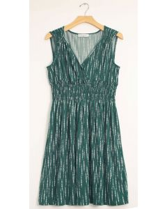 Rain Drop Cinch Midi Dress - Green