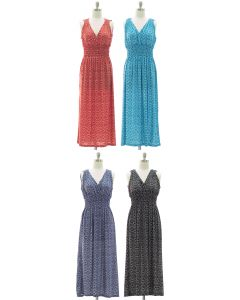 Ikat Smock Waist Maxi Dress - Assorted