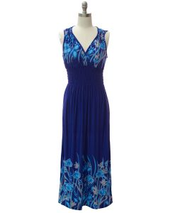 Shoulder Cinch Maxi - Royal Floral