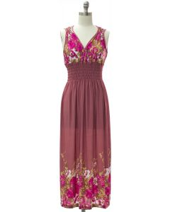 Shoulder Cinch Maxi - Mauve Floral