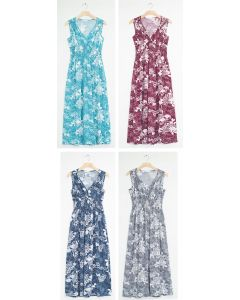 Floral Smock Waist Shoulder Maxi - Assorted