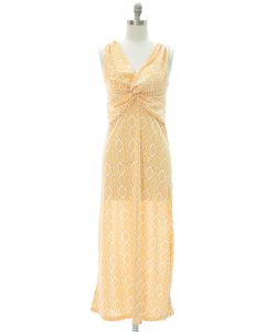Aztec Knot Front Maxi Dress - Yellow