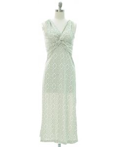 Aztec Knot Front Maxi Dress - Olive