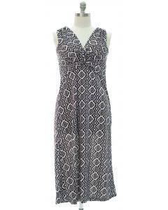 Plus Aztec Knot Front Maxi Dress - Black