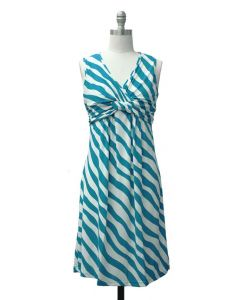 Knotted Dress - Turquoise
