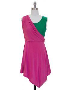 Draped Dress - Fuschia - LAST FINAL SALE
