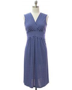 Polka Dot Tie Dress - Royal