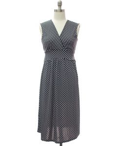 Polka Dot Tie Dress - Black