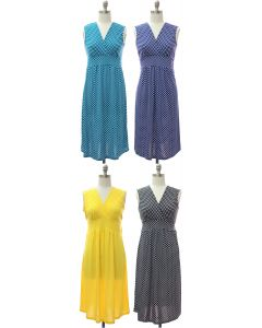 Polka Dot Tie Dress - Assorted