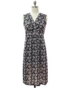 Floral Tie Back Dress - Black