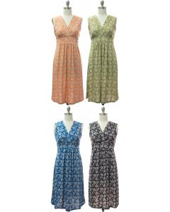 Floral Tie Back Dress - Assorted