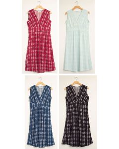Messy Checker Tie Dress - Assorted