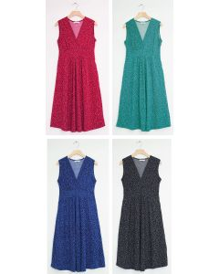 Ditsy Dot Tie Back Midi Dress - Assorted