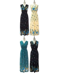 Smock Maxi Dress - Assorted