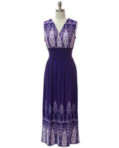 Smock Maxi Dress - Violet