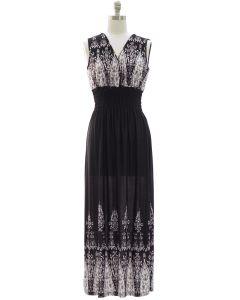 Smock Maxi Dress - Black
