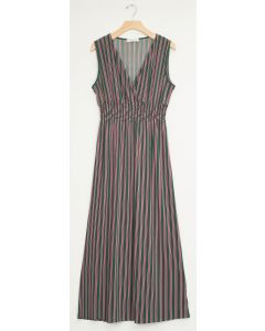 Stripe Smocked Maxi - Hunter Green