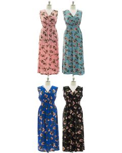 Plus Floral Smock Waist Maxi Dress - Assorted
