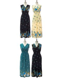 Plus Smock Maxi Dress - Assorted