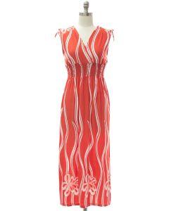 Shoulder Tie Maxi - Coral