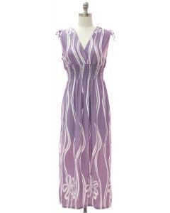 Shoulder Tie Maxi - Lilac