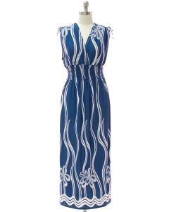 Shoulder Tie Maxi - Steel Blue