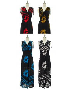 Floral Double V Surplice Maxi Dress - Assorted