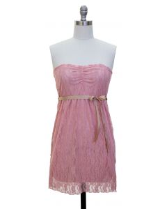 Junior Lace Dress - Pink - LAST FINAL SALE
