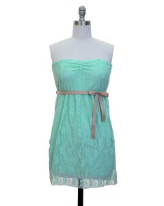 Junior Lace Dress - Aqua - LAST FINAL SALE