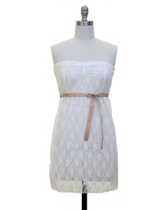 Junior Lace Dress - White - LAST FINAL SALE