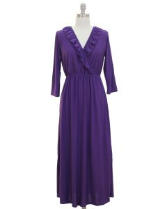 Ruffle Maxi Dress - Violet FINAL SALE
