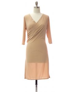 Faux Wrap Dress - Cream
