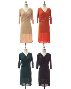 Faux Wrap Dress - Assorted