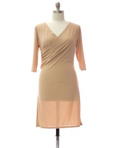 Plus Faux Wrap Dress - Cream