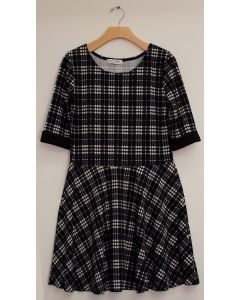Liverpool Skater Dress - Plaid