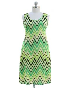 Plus. Chevron Maxi Dress - Lime