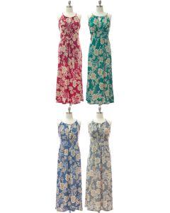 Jewel Neck Maxi Dress - Assorted